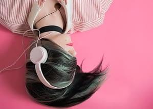 listening to audio